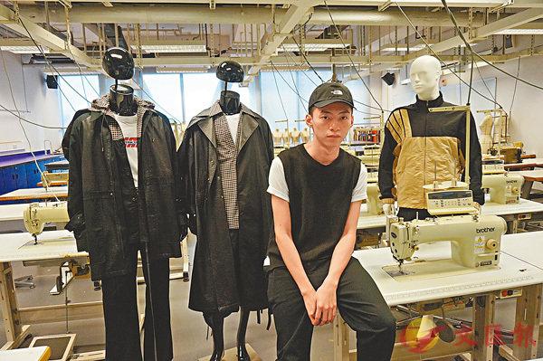 ■Wilson今年創立了個人男裝品牌REDEMPTIVE。 張岳悅 攝