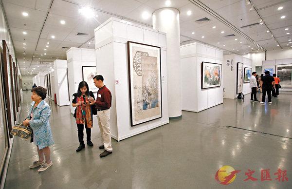 ■現場共展出200幅畫作 (主辦方提供)