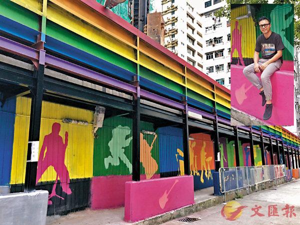 ■Pantone C現時主要從事塗鴉藝術的教育工作。 朱慧恩 攝