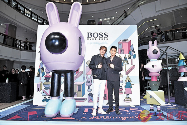■2PM前泰國成員Nichkhun(左)與曾經合作拍劇的周湯豪出席品牌活動。