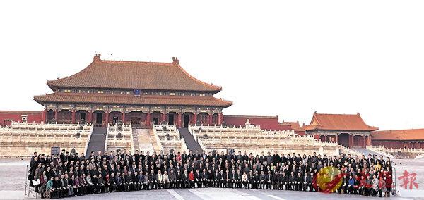 ■香港、澳門各界慶祝國家改革開放40周年訪問團團員參訪故宮。  香港文匯報記者江鑫嫻  攝
