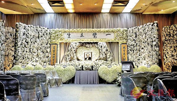 ■白花如海,送別金庸。香港文匯報記者劉國權攝