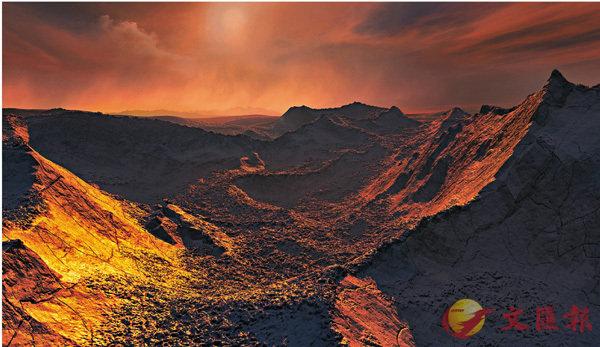 ■巴納德星b表面的藝術想像圖。 ESO - M. Kornmesser