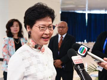 林鄭:對外國干預香港事務覺反感