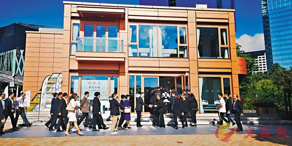 ■香港第一個由中集研發製造的模塊化建築面市。 香港文匯報深圳傳真