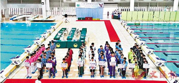 ■郭一葦中學學生獲邀參加「2018澳門國際跳水邀請賽」。 學校供圖