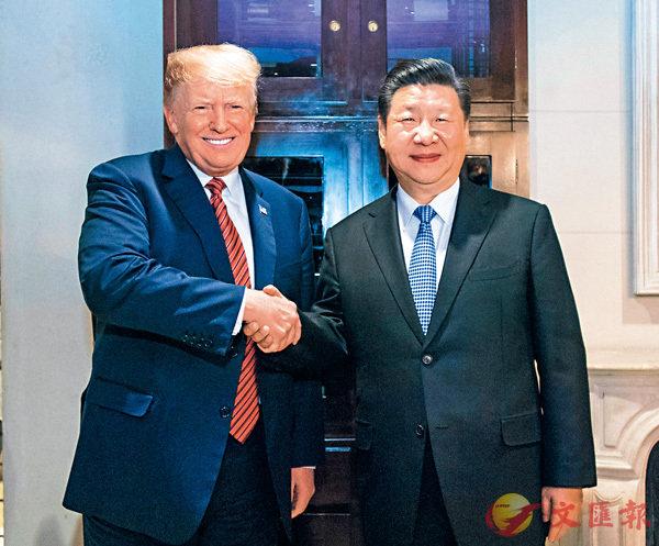 ■ 國家主席習近平應邀同美國總統特朗普在阿根廷布宜諾斯艾利斯共進晚餐,舉行會晤。新華社
