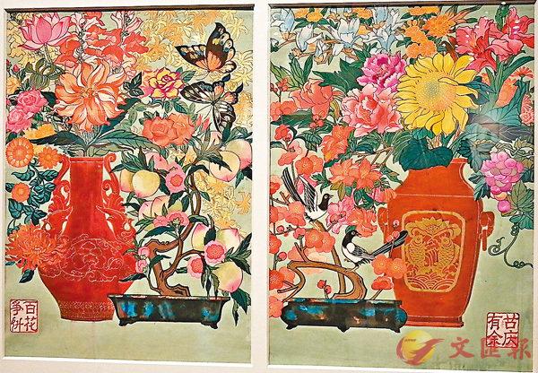 ■手繪原稿《百花爭艷 喜慶有餘》,1980年