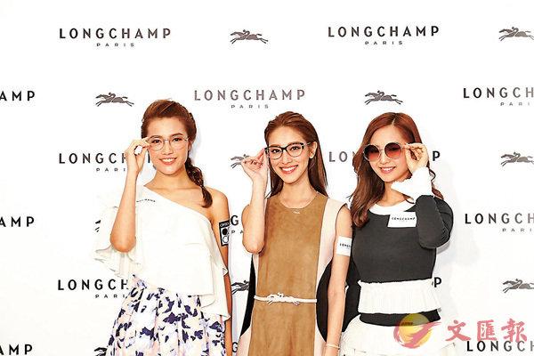 ■陳凱琳變身時尚達人,親自為模特兒配襯太陽眼鏡造型。