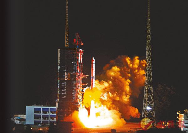■圖為今年5月,「嫦娥四號」中繼星「鵲橋」號在西昌成功發射。資料圖片