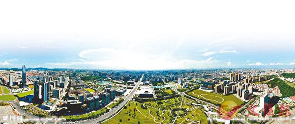 ■ 東莞是台商在大陸投資最密集的地區之一。圖為東莞市中心。  網上圖片