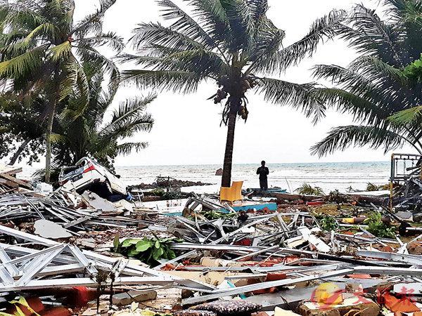 ■ 海嘯重災區板底蘭沿岸民居被夷平。 路透社