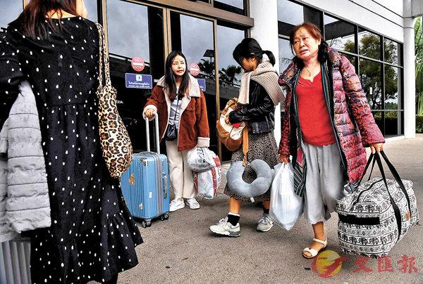 ■颱風「帕布」吹襲泰國南部,大量中國旅客行程受阻被滯留。   法新社