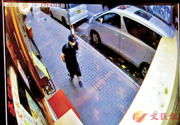 ■閉路片段顯示林子健當日步出球衣店後右轉沿砵蘭街向碧街方向走去。資料圖片