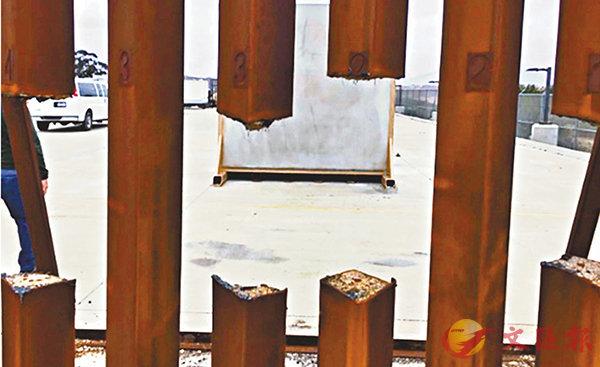 ■鋼欄樣板被電鋸輕易鋸開兩截。 網上圖片
