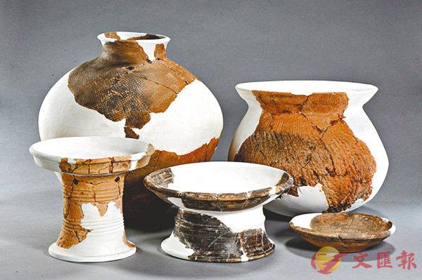 ■七星墩遺址確定為湖南規模最大的新石器時代城址。圖為該遺址出土陶器。網上圖片