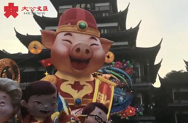 上海新春藝術燈會| 佩奇一家齊登場 中外小豬同過中國年