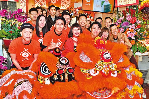 ■吳日言跟友人合資7位數的飯糰店於銅鑼灣開業。