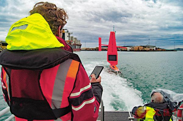 ■Saildrone離開布拉夫海港,啟動南極探索任務。 李嘉誠基金會供圖