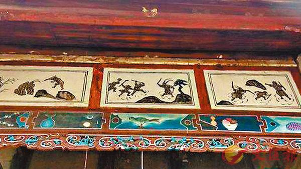 ■ 寶峰寺的《西遊記》主題壁畫。 網上圖片