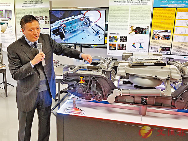 一清分享獲批鐵路項目的工作內容和目標。香港文匯報記者姜嘉軒  攝