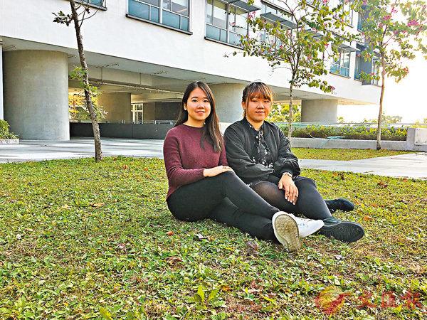 ■李詠雯(左)及雷恩(右),積極面對人生逆境,為社會帶來正能量。 香港文匯報記者詹漢基  攝