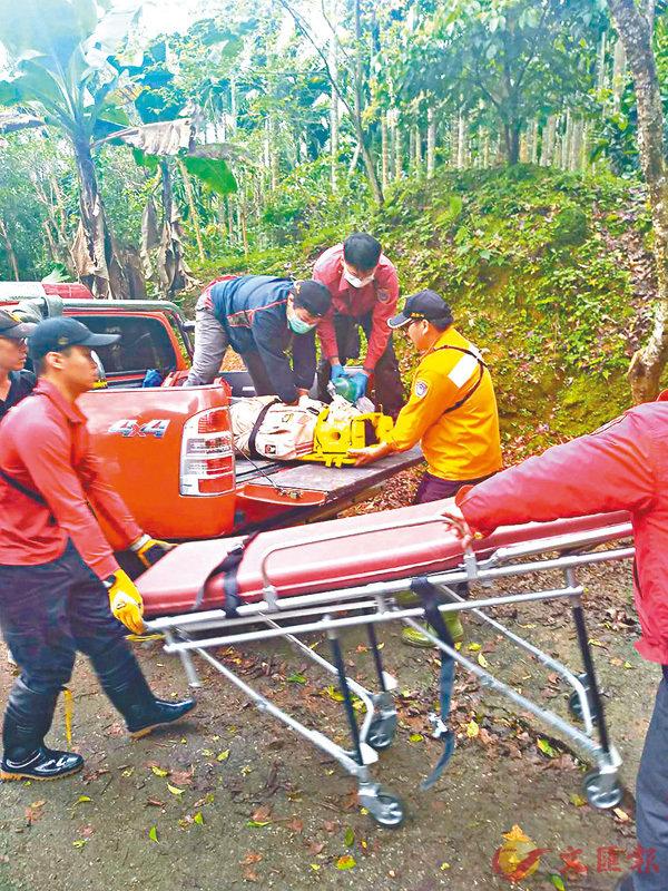 ■意外發生後,兩名傷者被送往醫院。 中央社
