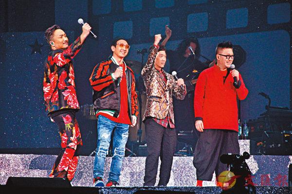 ■鄭中基(左一)請來李璨琛(左二)、張達明(右二)及谷德昭擔任嘉賓。