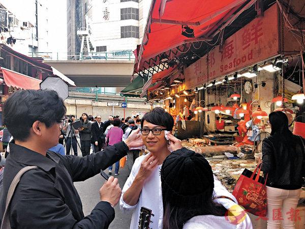 ■坤哥到香港地道街市拍攝。