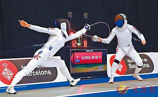 ■江旻憓(左)決賽擊敗韓國對手。  FIE圖片