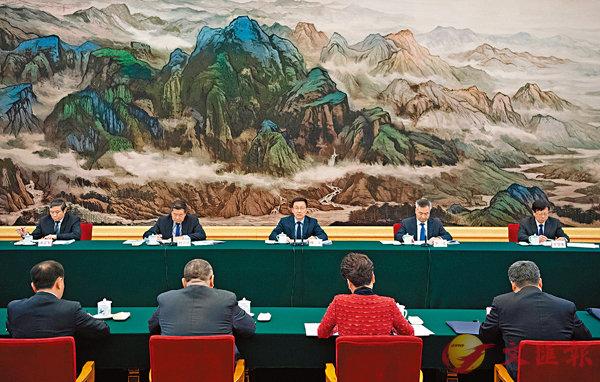 ■韓正昨日主持召開粵港澳大灣區建設領導小組會議。 新華社