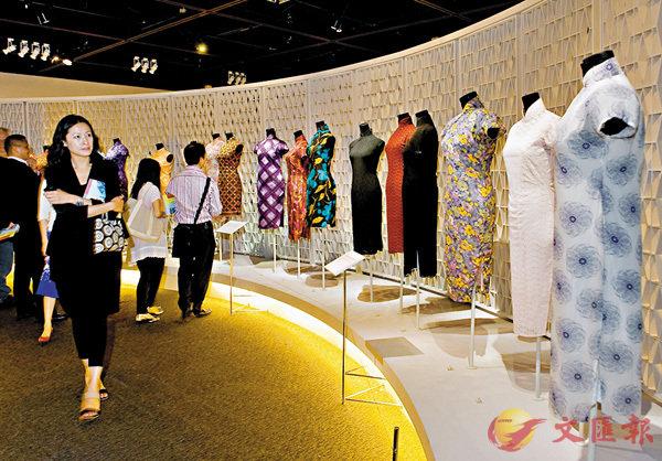 ■香港旗袍展。 香港文匯報資料圖片
