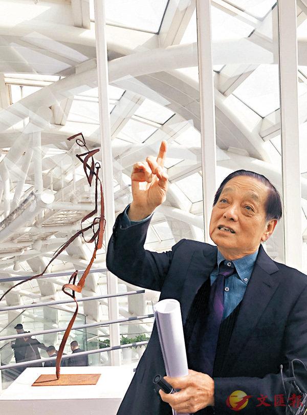■著名藝術家韓美林。 趙一存  攝