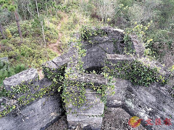 ■中川炮樓留下的痕跡。 作者提供
