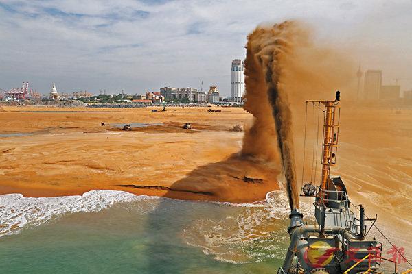 ■填海是取得土地的其中一個辦法,世界各地都有採用。圖為斯里蘭卡科倫坡。 資料圖片