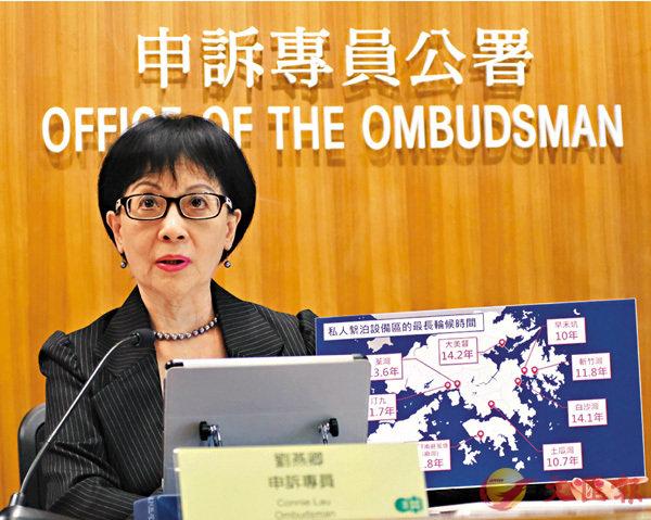 ■劉燕卿公佈兩項主動調查的結果,點名批評衛生署及海事處。香港文匯報記者梁祖彝  攝