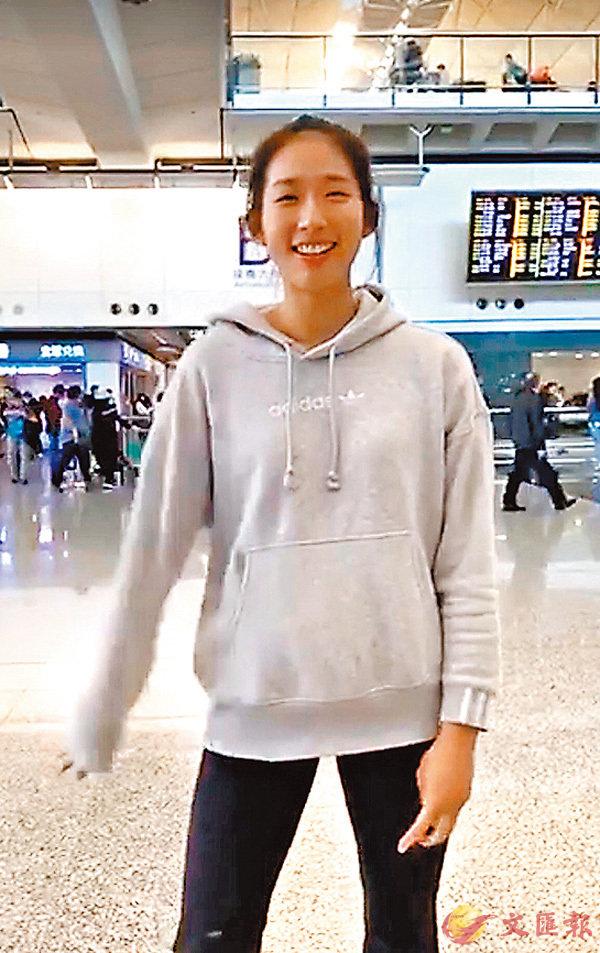 ■江旻憓昨返港。 facebook圖片