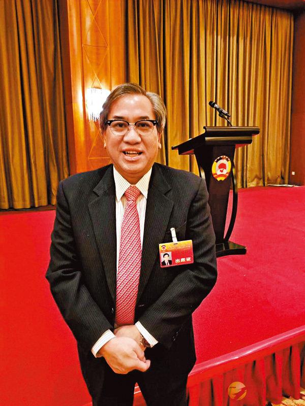 香港專業人士(北京)協會會長馮國佑。香港文匯報記者馬靜  攝