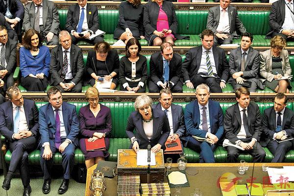 ■英國國會否決無協議脫歐。 美聯社