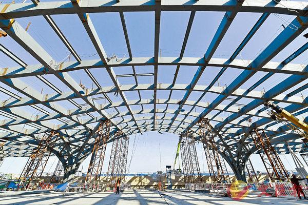 ■建設中的北京地鐵環球主題公園站