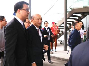 韓國瑜訪港韓國瑜抵達香港機場