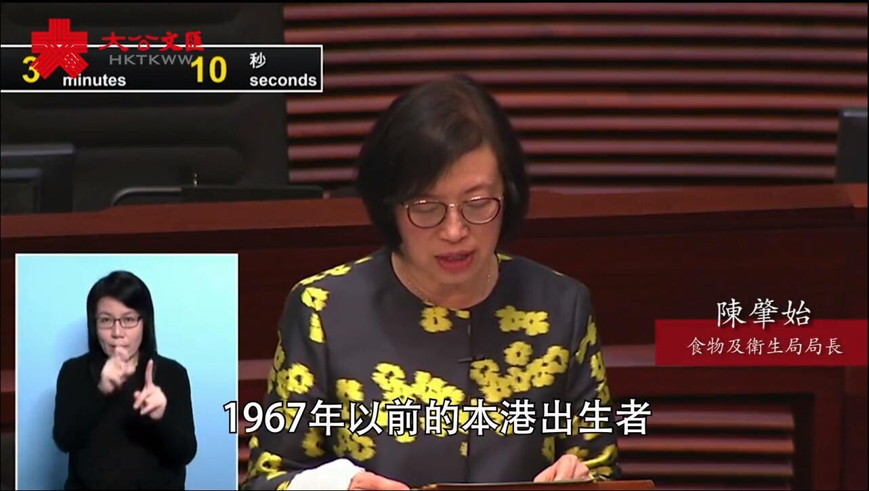陳肇始¡G普遍香港市民感染麻疹風險偏低