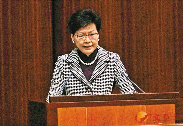 ■特首促反對派撫心自問,是否應經常詆毀香港的制度。 香港文匯報記者劉國權  攝