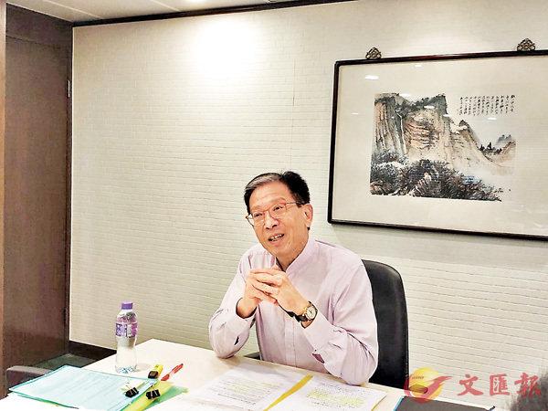■胡漢清。香港文匯報記者鄭治祖  攝