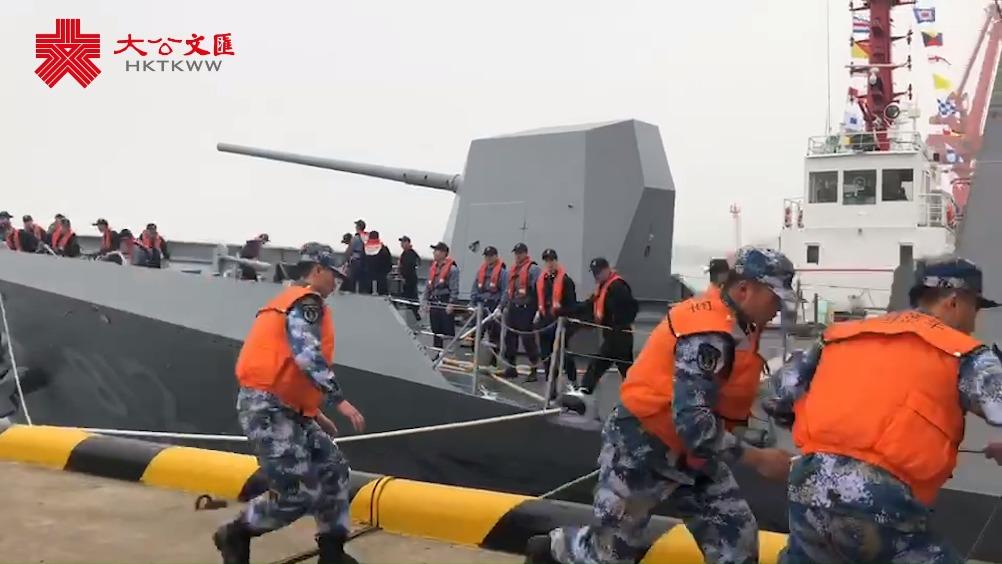 海軍成立70周年| 韓國印度參閱軍艦到達青島港