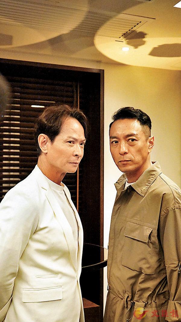 ■「殭屍之友」姜皓文(右)和吳廷燁(左)在 《鐵探》重遇。