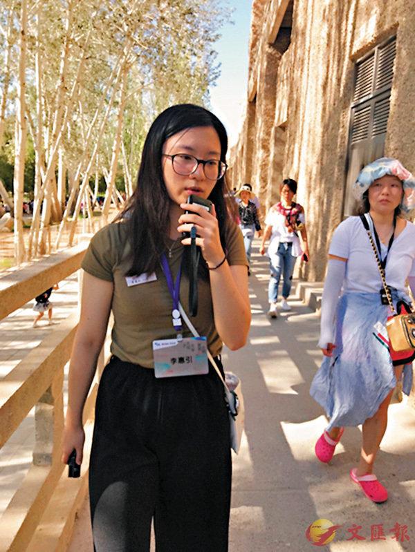 ■李惠引在為遊客做講解。受訪者供圖