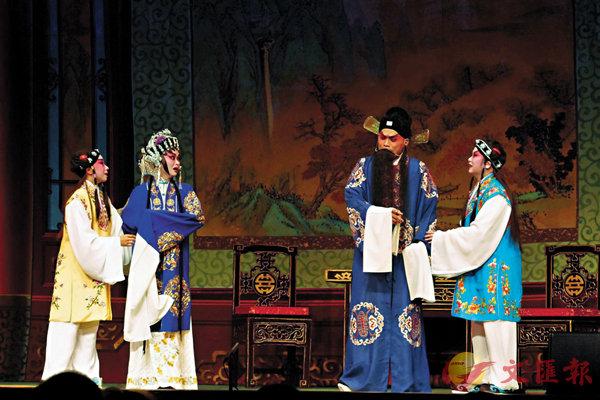 ■黎耀威、王潔清、袁善婷、吳倩衡演出《寶蓮燈之二堂放子》。