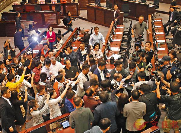 暴行毀議會 醜態超底線