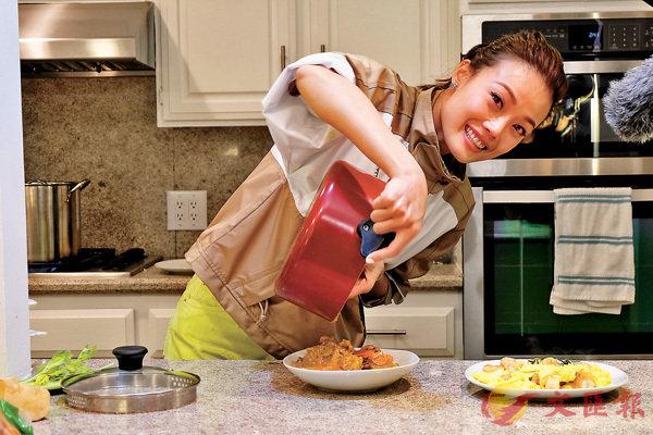 ■容祖兒在美國期間一展廚藝。